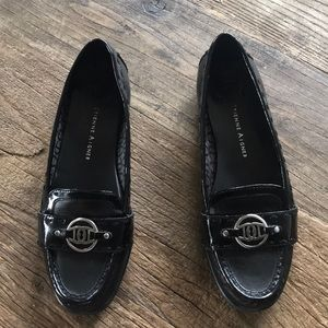 Etienne Aigner Sister Leather Loafers Blk 7.5